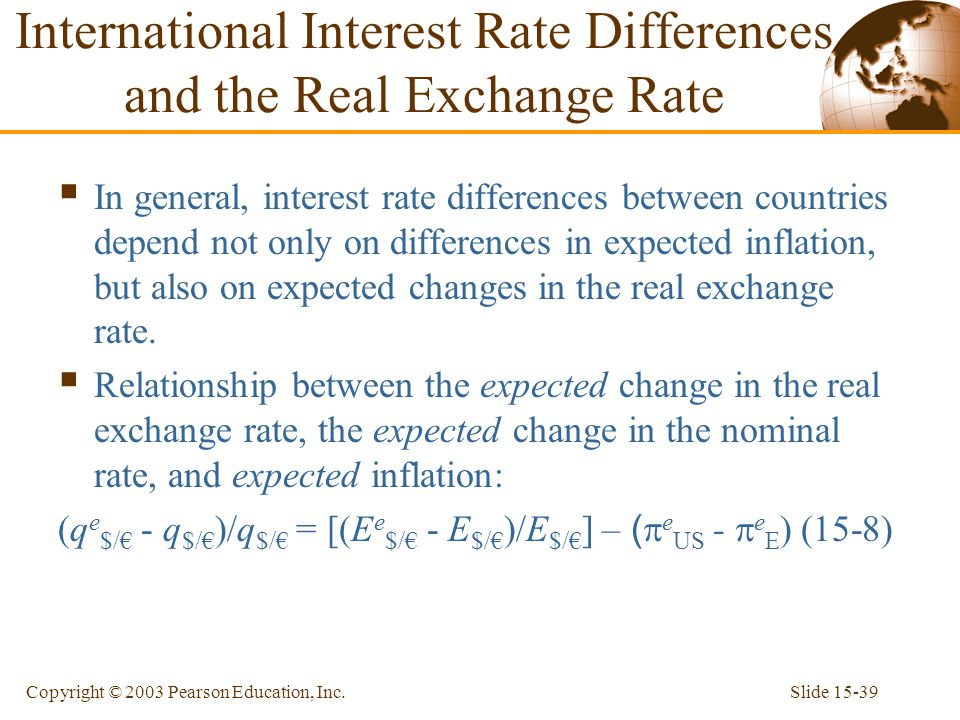 International Interest Rate Differences and the Real Exchange Rate