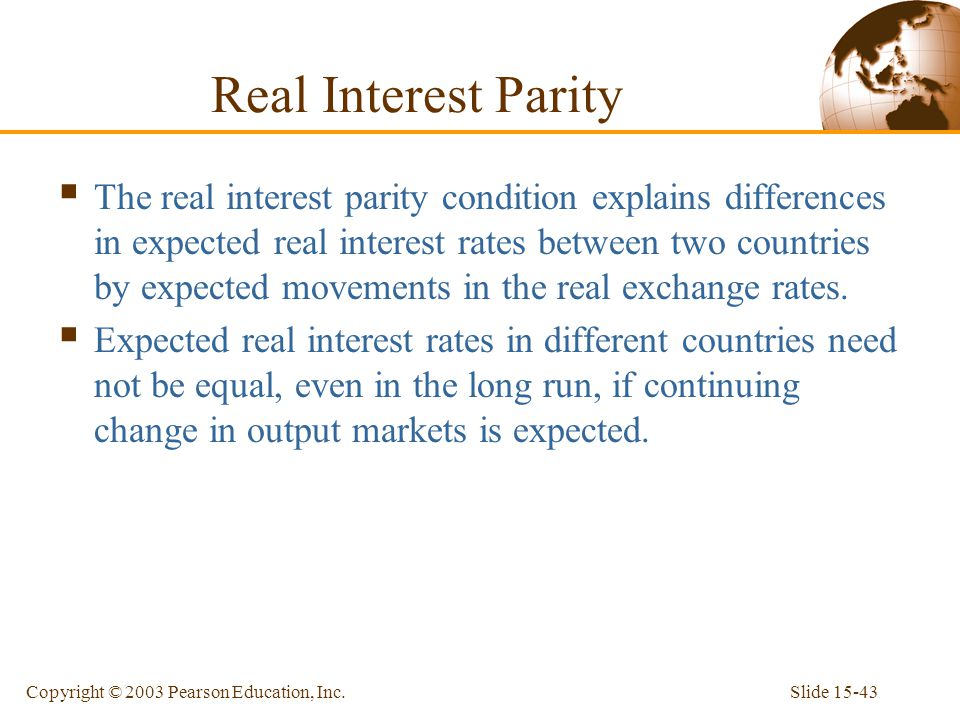 Real Interest Parity