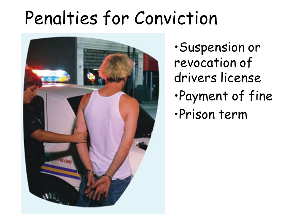 Penalties for Conviction