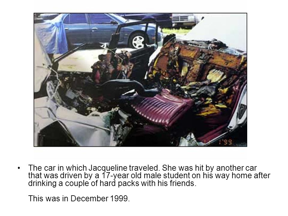 The car in which Jacqueline traveled
