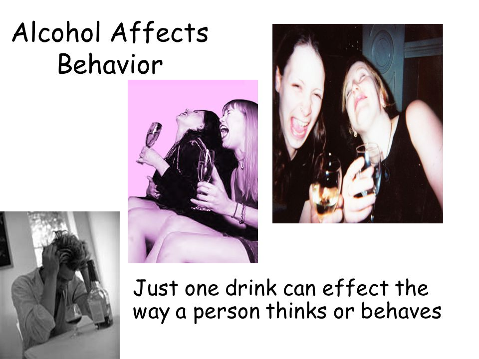 the effects of alcoholism to a persons behavior Alcoholism is a disease of the family heavy drinking increases the likelihood of delinquent and violent behavior teens' serious alcohol problems.