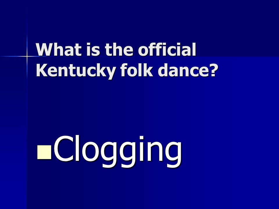 What is the official Kentucky folk dance