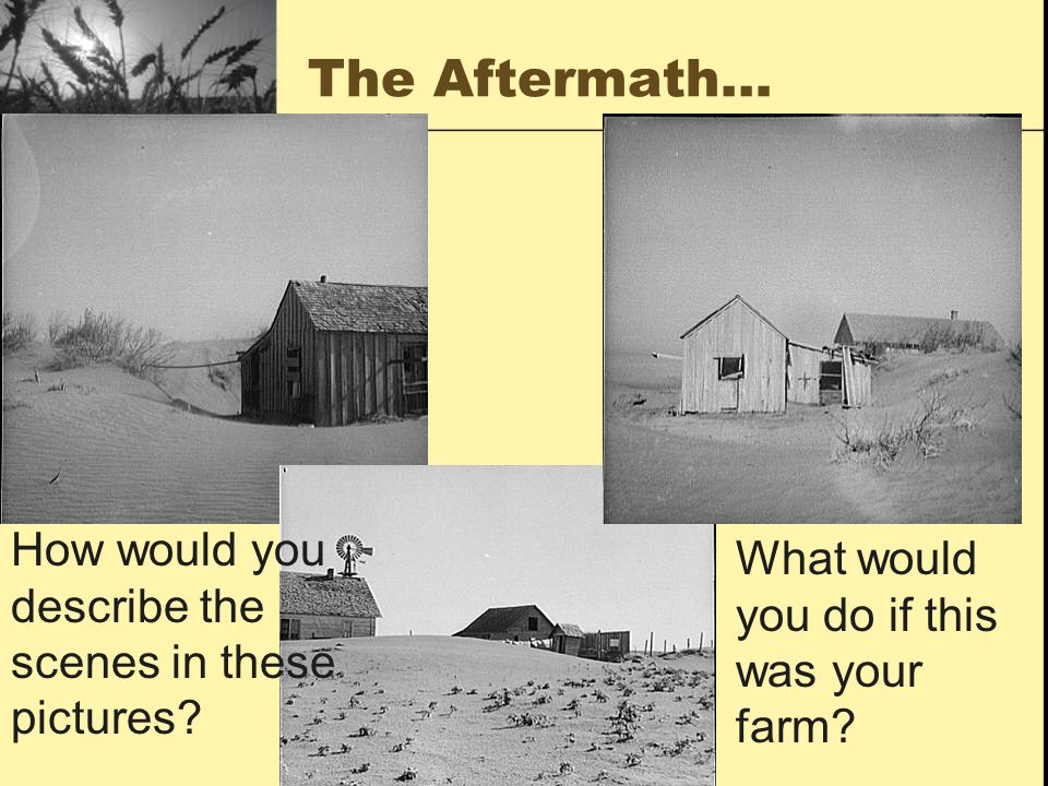 The Aftermath… How would you describe the scenes in these pictures