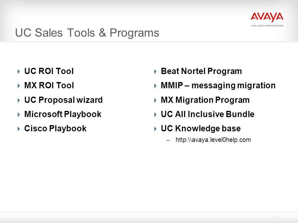 UC Sales Tools & Programs