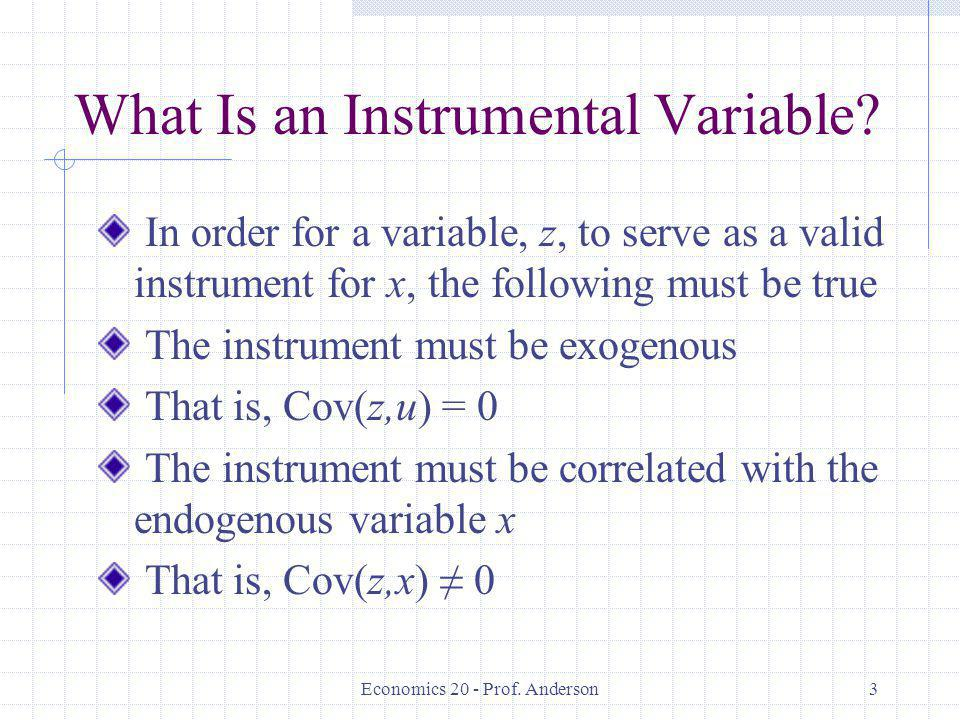 What Is an Instrumental Variable