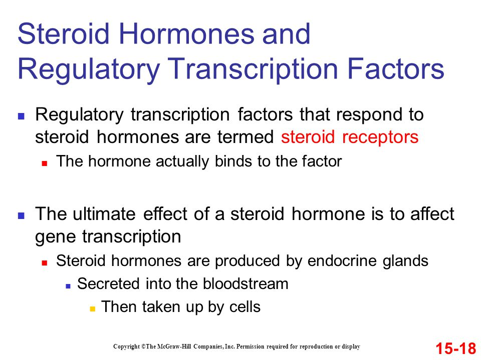 Steroid Hormones and Regulatory Transcription Factors