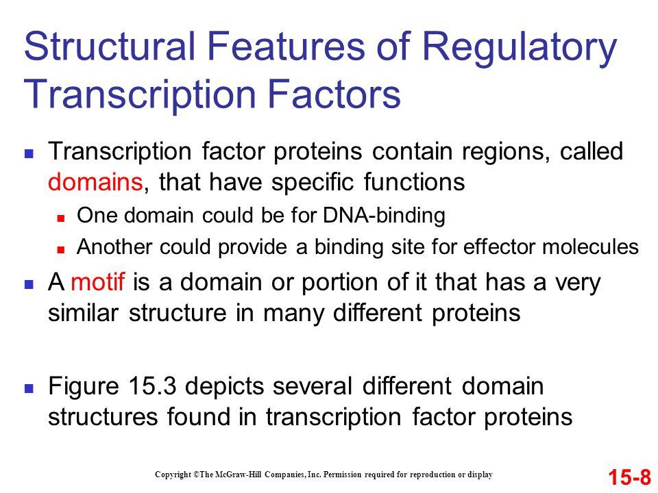 Structural Features of Regulatory Transcription Factors