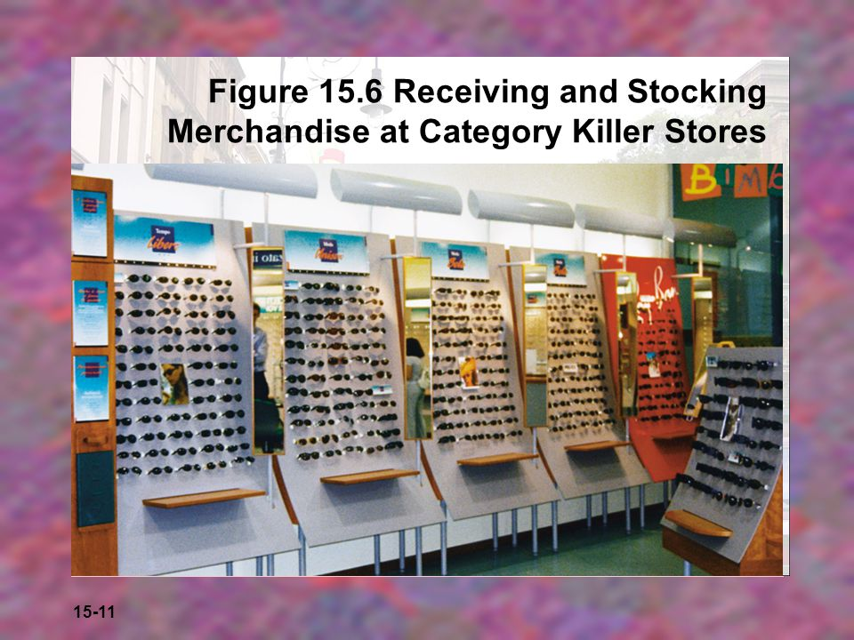 Figure 15.6 Receiving and Stocking Merchandise at Category Killer Stores