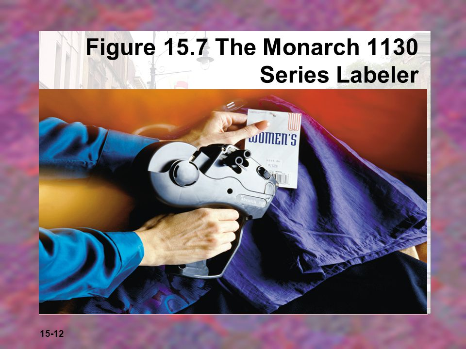 Figure 15.7 The Monarch 1130 Series Labeler