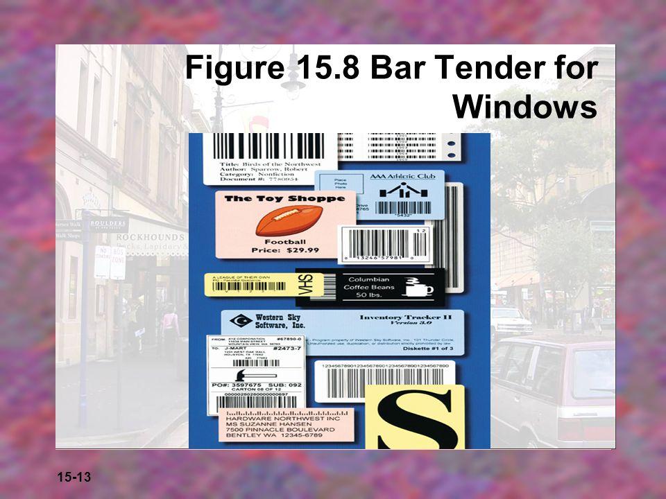 Figure 15.8 Bar Tender for Windows