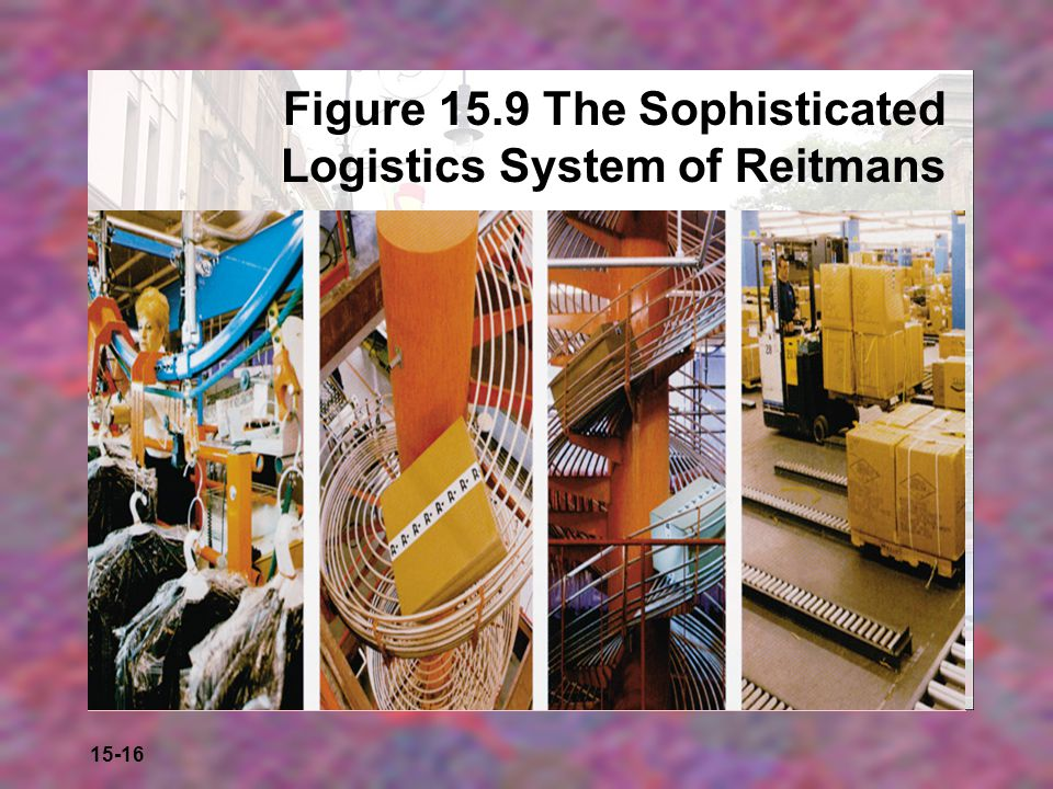 Figure 15.9 The Sophisticated Logistics System of Reitmans