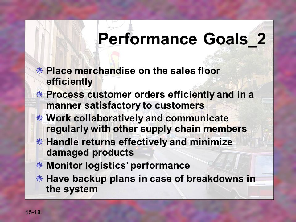 Performance Goals_2 Place merchandise on the sales floor efficiently