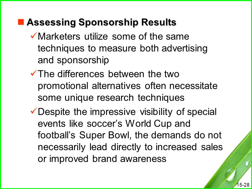 Assessing Sponsorship Results