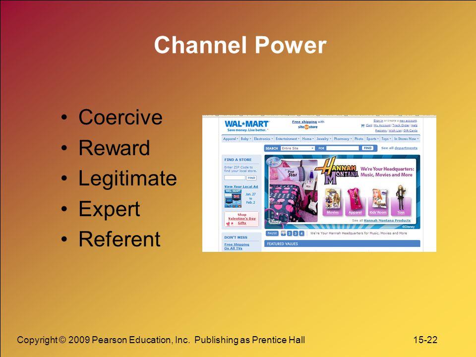 Channel Power Coercive Reward Legitimate Expert Referent
