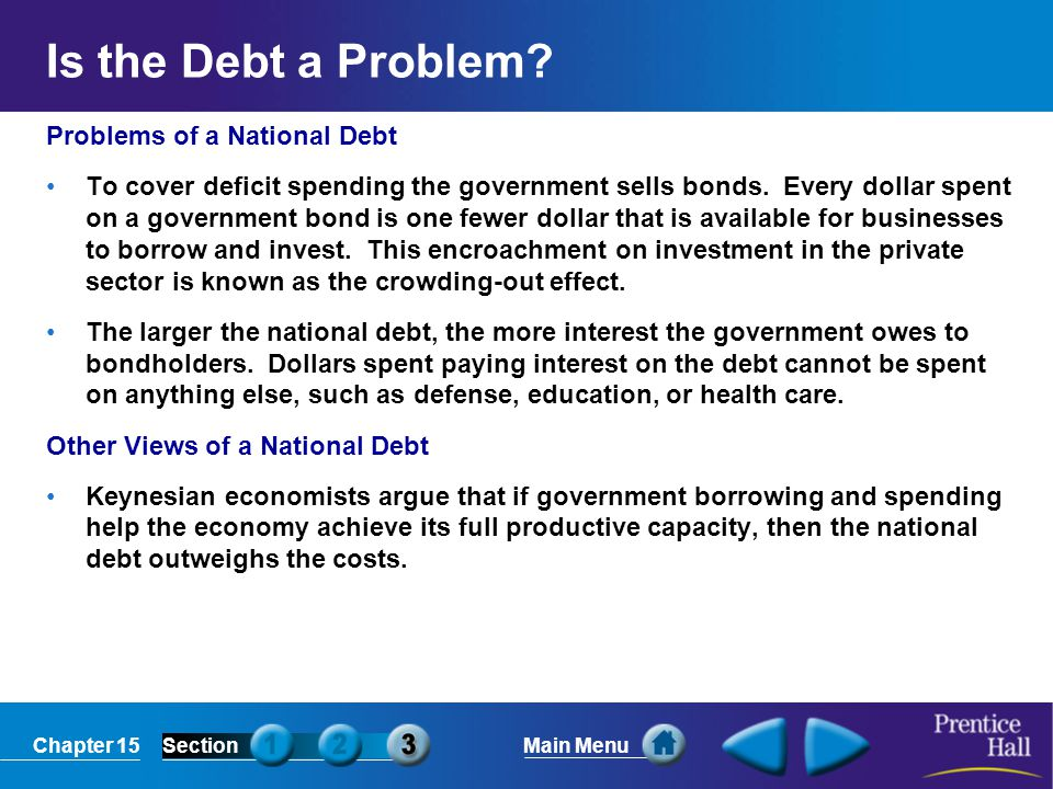 Is the Debt a Problem Problems of a National Debt