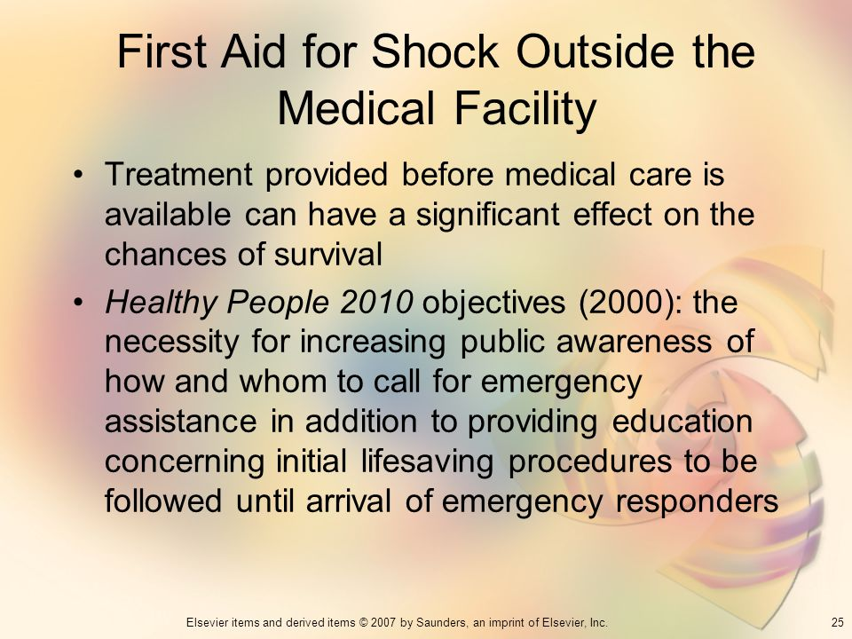 First Aid for Shock Outside the Medical Facility