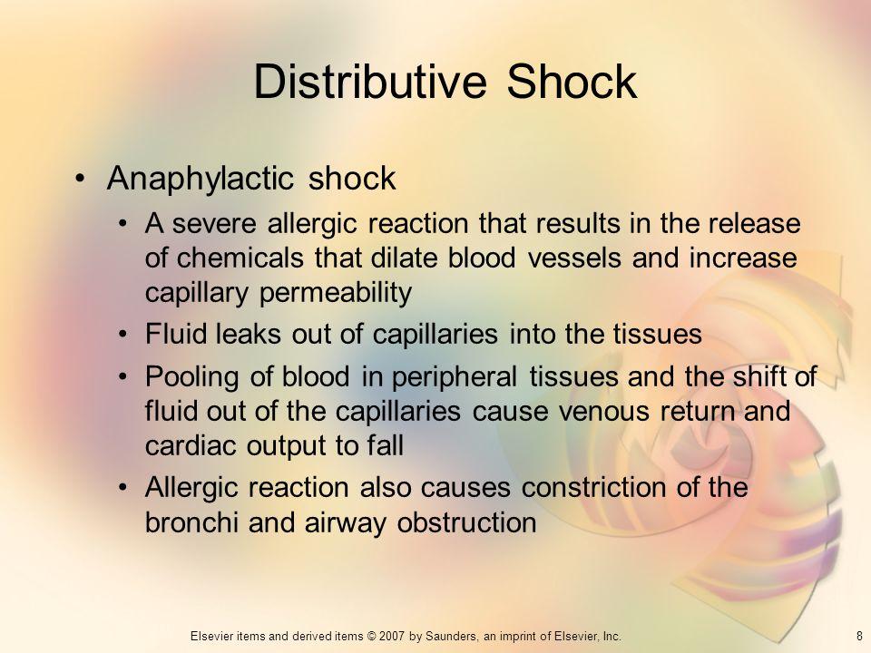 Distributive Shock Anaphylactic shock