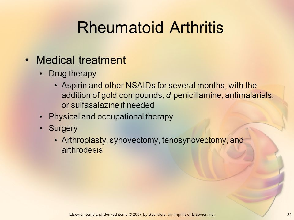 Rheumatoid Arthritis Medical treatment Drug therapy