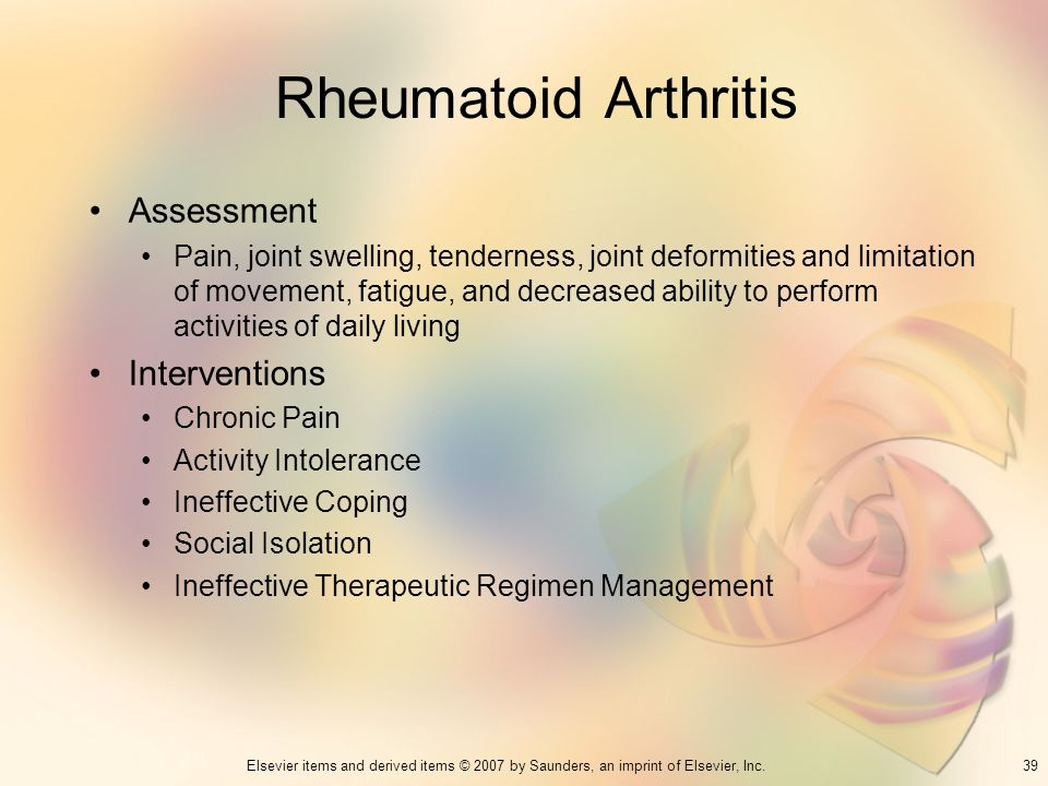 Rheumatoid Arthritis Assessment Interventions