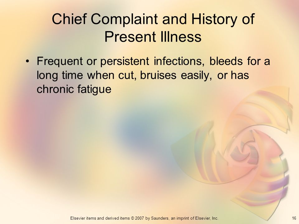 Chief Complaint and History of Present Illness