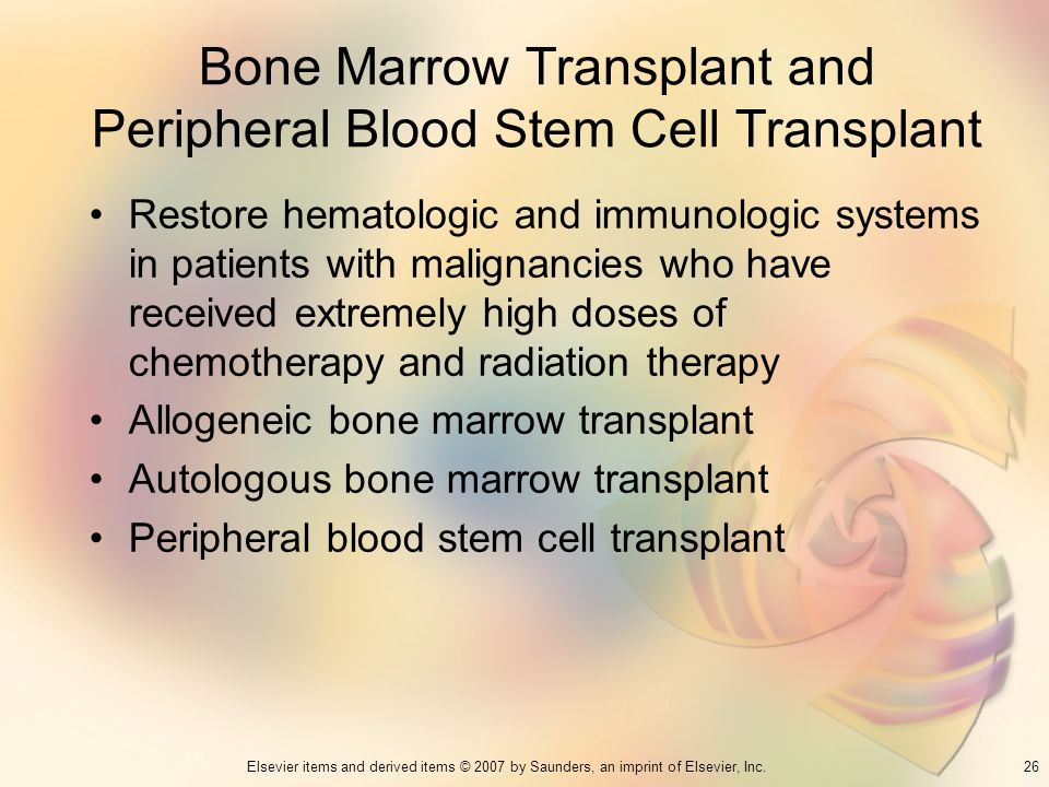 Bone Marrow Transplant and Peripheral Blood Stem Cell Transplant