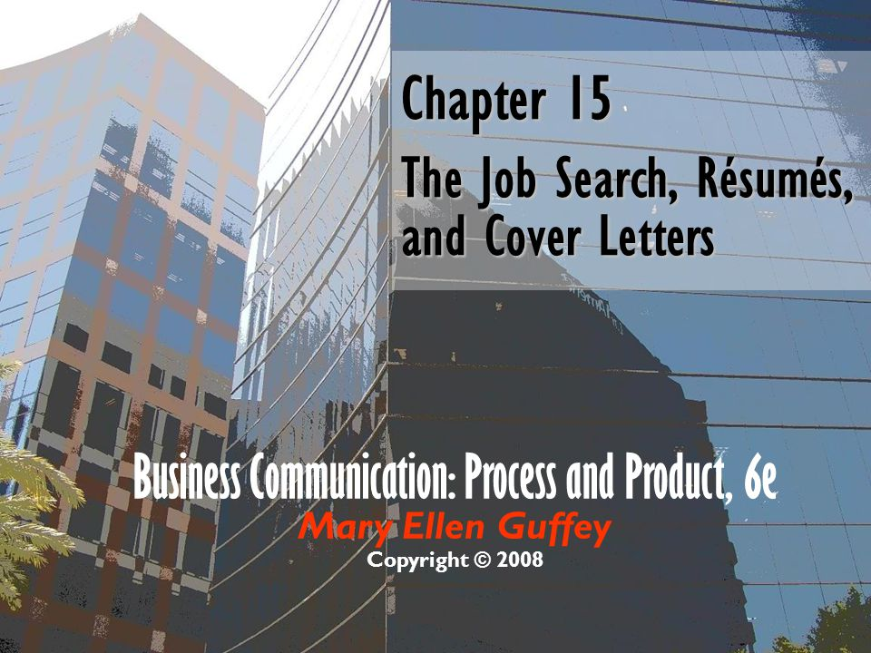 the job search resumes and cover letters