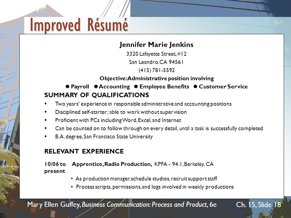 Improved Résumé Jennifer Marie Jenkins