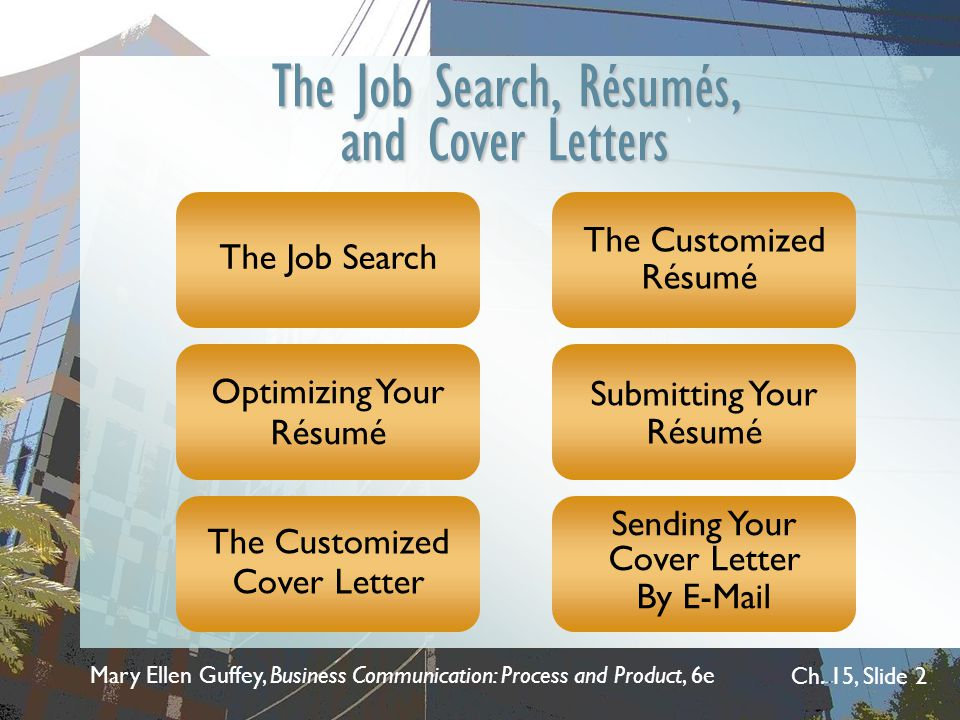 The Job Search, Résumés, and Cover Letters
