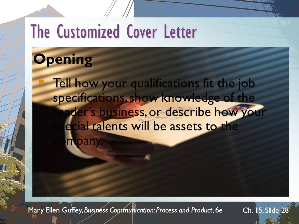 The Customized Cover Letter