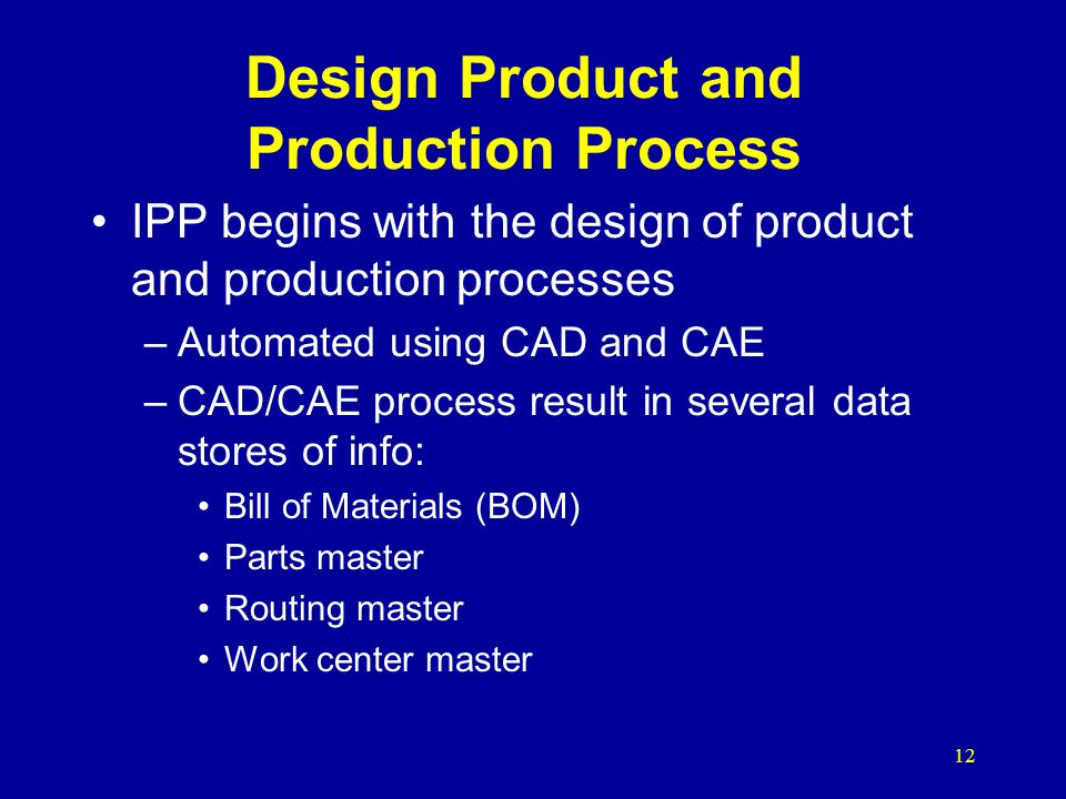 Design Product and Production Process