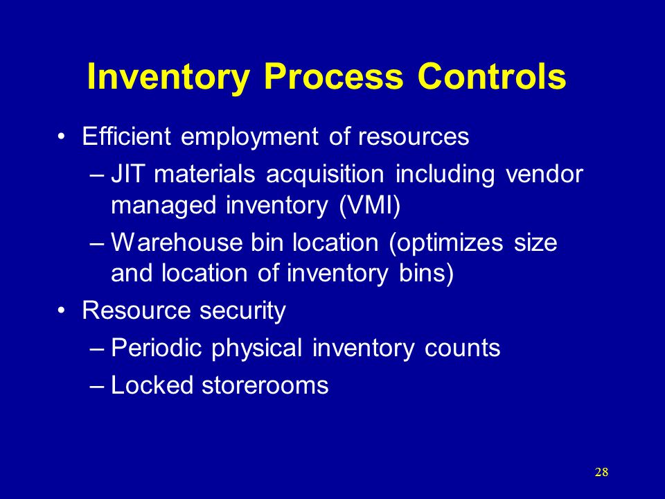 Inventory Process Controls