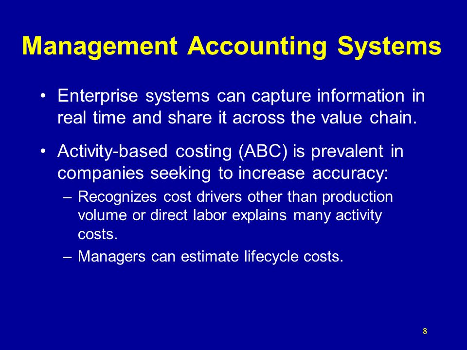 Management Accounting Systems