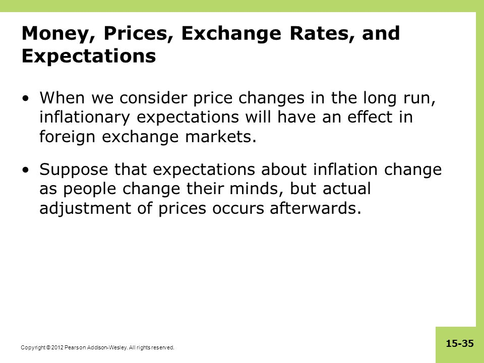 Money, Prices, Exchange Rates, and Expectations