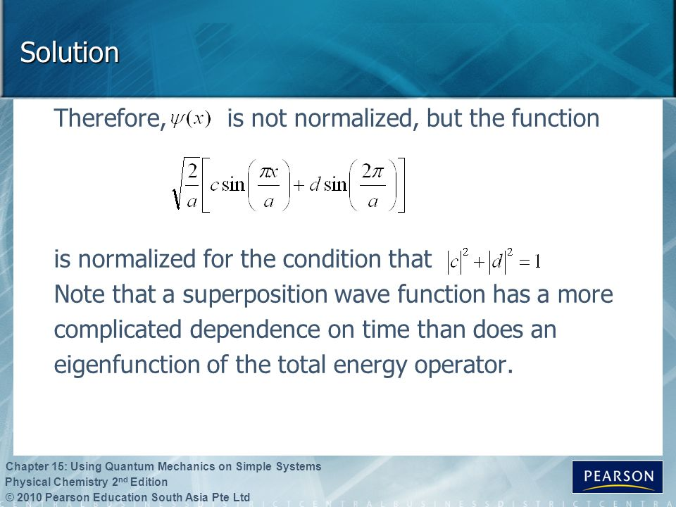 Solution Therefore, is not normalized, but the function