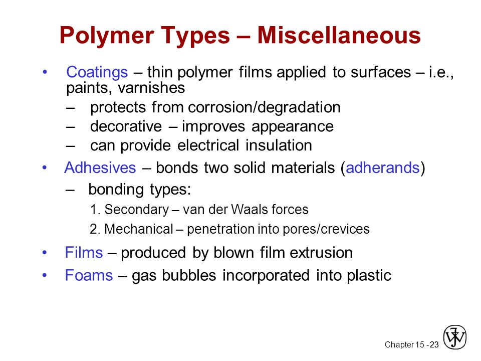 Polymer Types – Miscellaneous