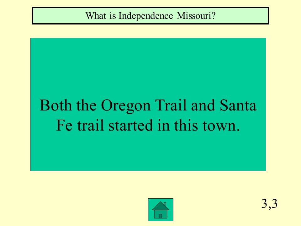 Both the Oregon Trail and Santa Fe trail started in this town.
