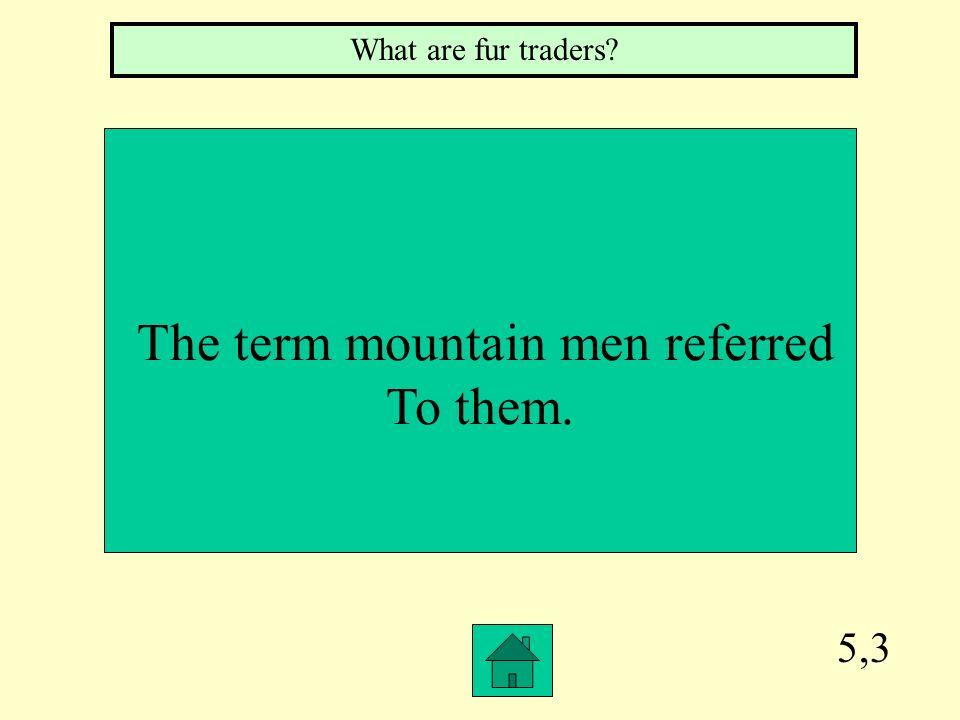 The term mountain men referred