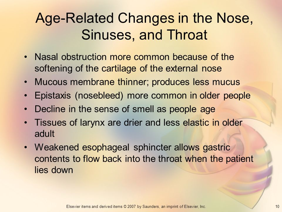 Age-Related Changes in the Nose, Sinuses, and Throat