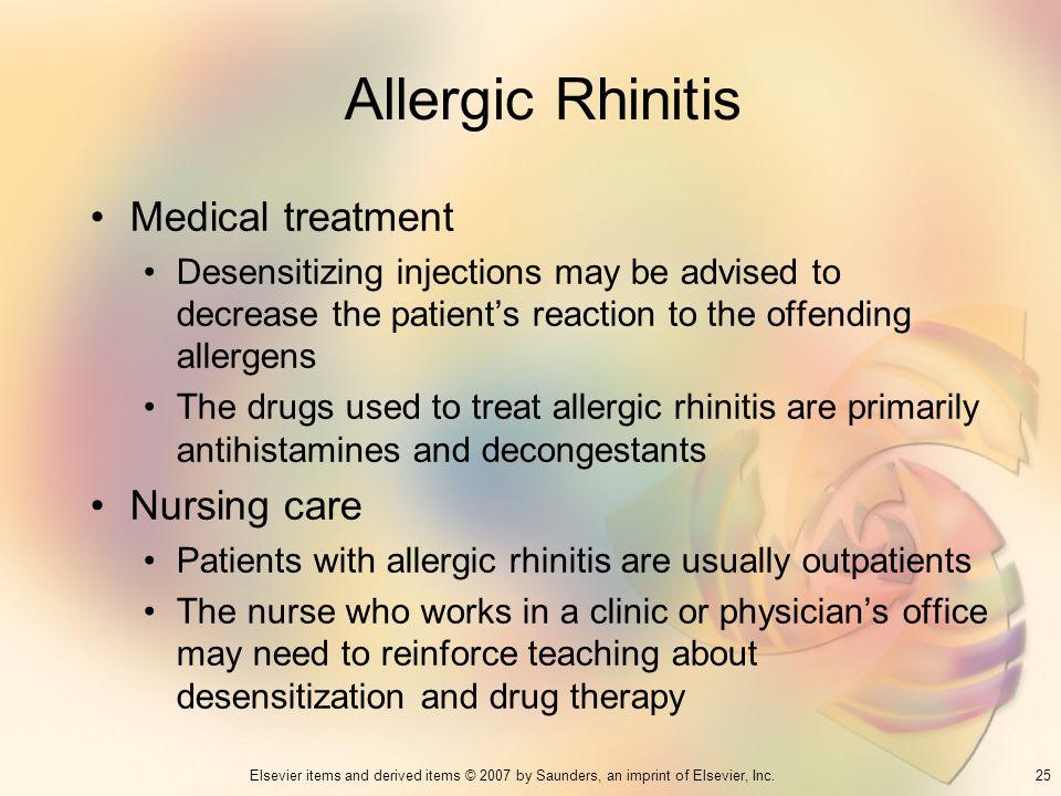Allergic Rhinitis Medical treatment Nursing care