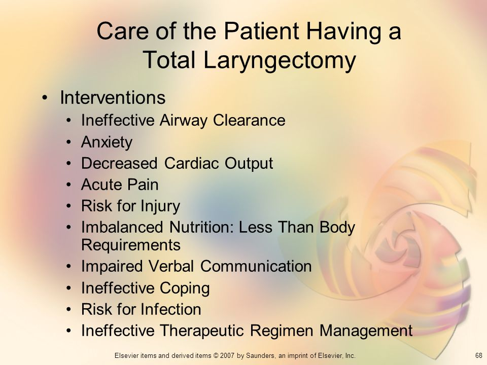 Care of the Patient Having a Total Laryngectomy
