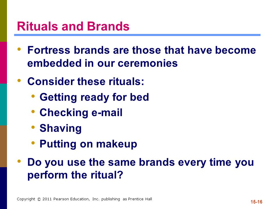 Rituals and Brands Fortress brands are those that have become embedded in our ceremonies. Consider these rituals: