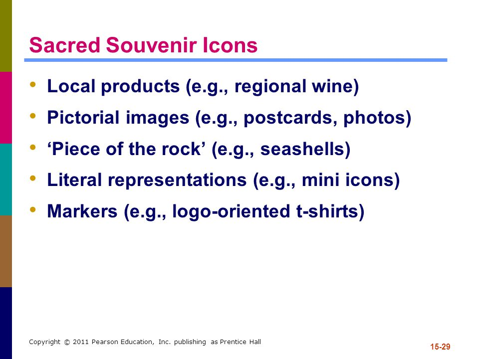 Sacred Souvenir Icons Local products (e.g., regional wine)