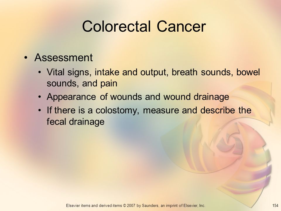 Colorectal Cancer Assessment