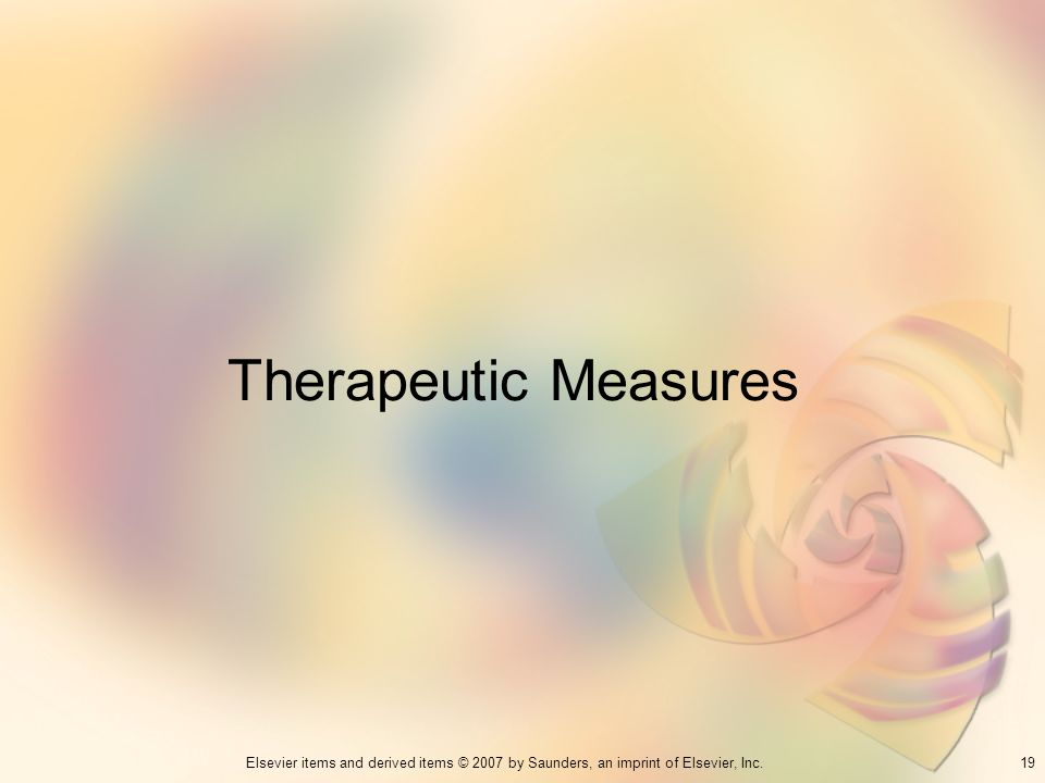 Therapeutic Measures 19
