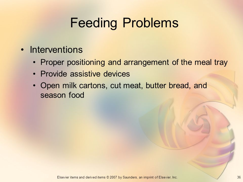 Feeding Problems Interventions