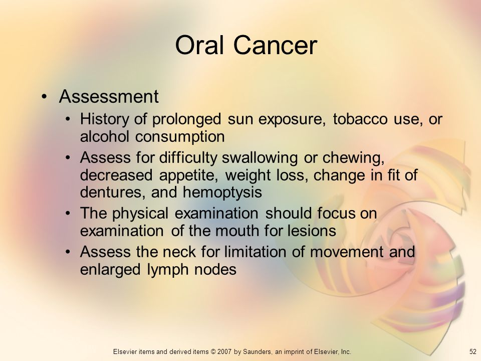 Oral Cancer Assessment