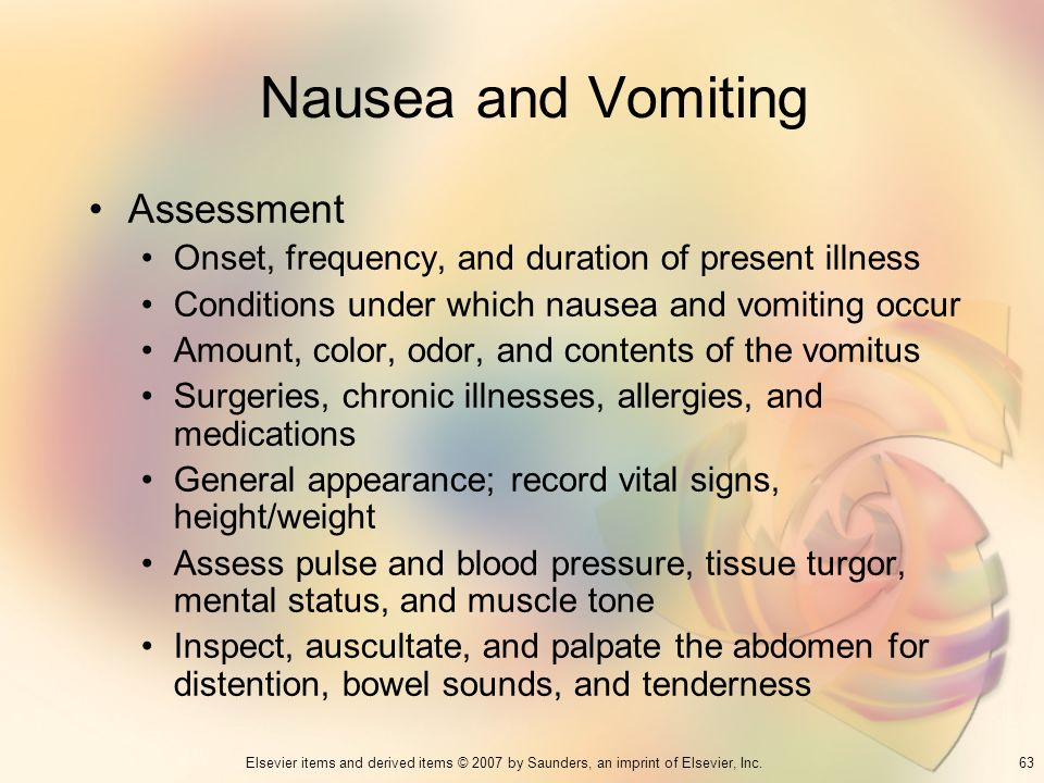 Nausea and Vomiting Assessment