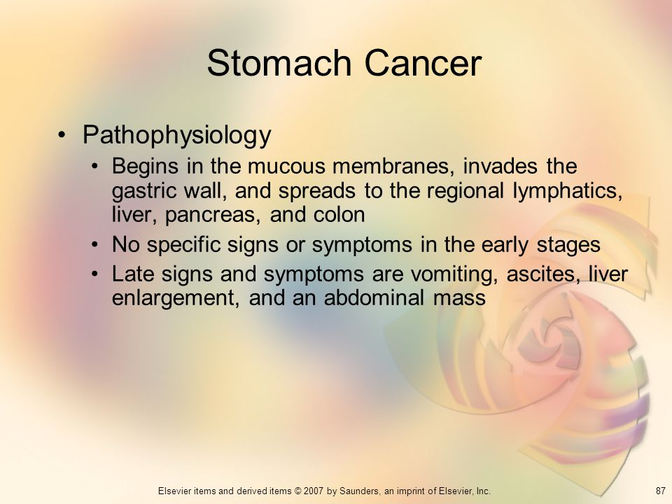 Stomach Cancer Pathophysiology