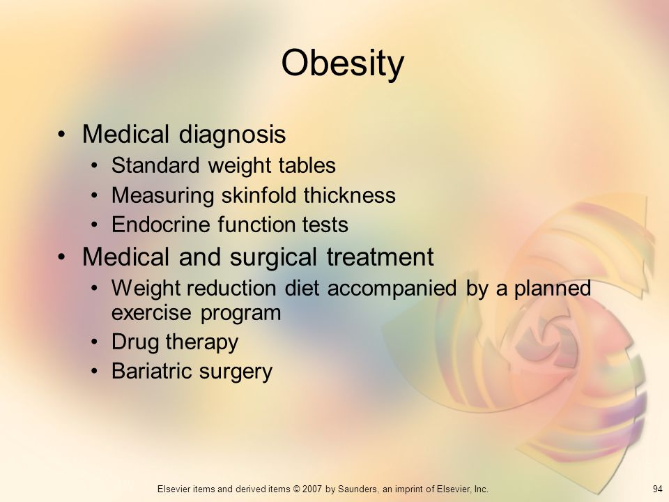 Obesity Medical diagnosis Medical and surgical treatment