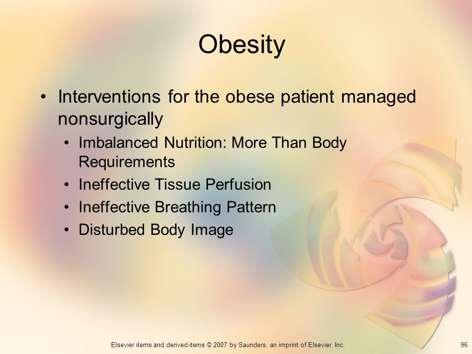 Obesity Interventions for the obese patient managed nonsurgically